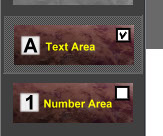 Text Areas, Numbers Area