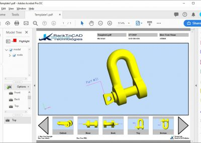 3D PDF Multiple Views Publishing