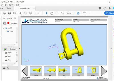 3D PDF Multiple Views Publishing