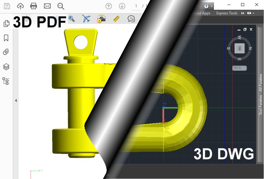 3D PDF to 3D DWG